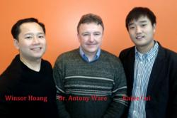 Winsor Hoang, CTS Forex Founder & CEO, Dr. Antony Ware, Director of the Mathematical and Computational Finance Laboratory , Kaijie Cui, Ph. D. Candidate